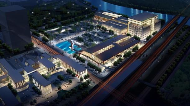 上海智力产业园区夜景