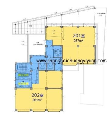 7立方科技文化创意园2楼平面图